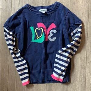 Size small old navy love sweater